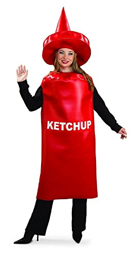 Toddler Ketchup Bottle Costume (Ketchup Bottle Funny Unisex Halloween Costume Mens Womans Sexy Cute Funny Rubies)
