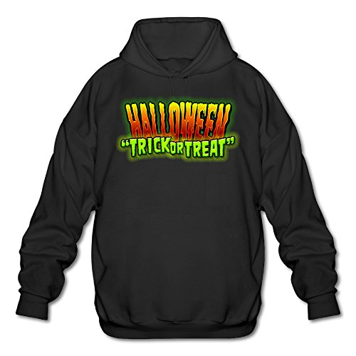 XJBD Men's Halloween Special Hooded Sweatshirt Black Size XXL (Tales Of Halloween Trailer)