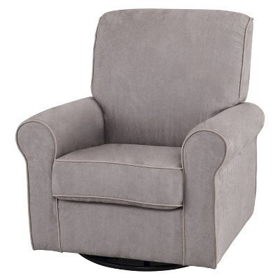 Simmons Kids Augusta Upholstered Glider - Dove Grey by RBS