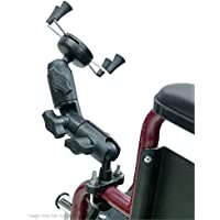 Wheelchair U-Bolt Mount with Double Socket Swivel Arm and X-Grip Universal Phone Holder (sku 21550)