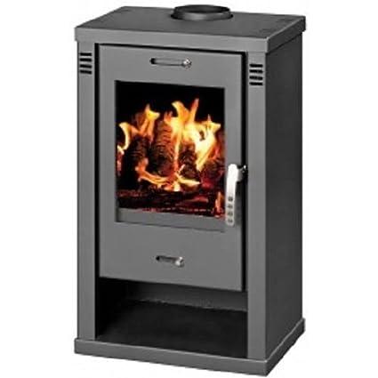 Estufa de leña chimenea quemador Log moderna estufa para madera, 7,5 kW