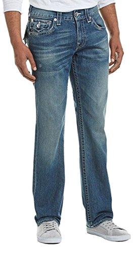 True Religion Mens Drifter Straight Leg, 34, Blue