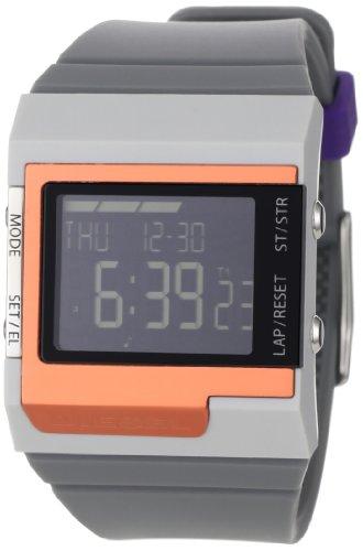 Diesel Men's DZ7182 Medium Grey and Orange Color Domination Digital Module Black Dial Watch (Diesel Men Digital Watch)