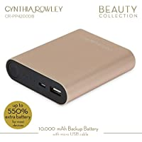Cynthia Rowley Portable Rechargeable Backup Battery 10000 mAh (Gold/Black)