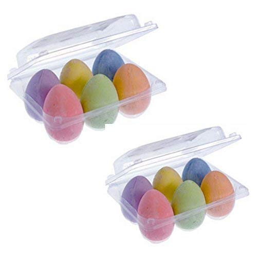 Easter Egg Shaped Chalk-2 packs of 6, Perfect for Easter Crafts and Easter Baskets!