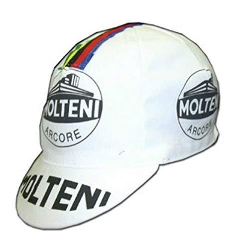 APIS Molteni Vintage Cotton Cycling Cap - Bicycle Cap Outdoors Anti Sweat White (Cycling Cap Cotton)