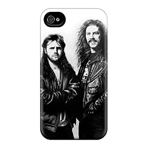 Iphone 4/4s Zym6844OFNH Support Personal Customs Colorful Metallica Ride The Lightning Band Series Great Hard Phone Cover -AlainTanielian
