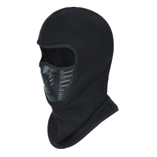 Autumn/Winter Fleece Balaclava Hood Tactical Full Face Mask For Running/Hiking/Cycling/Motercycling/Skiing-Black