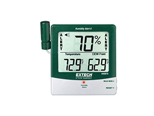 Extech 445815-NIST Hygro-Thermometer and Humidity Alert with Dew Point and (Extech Hygro Thermometer)