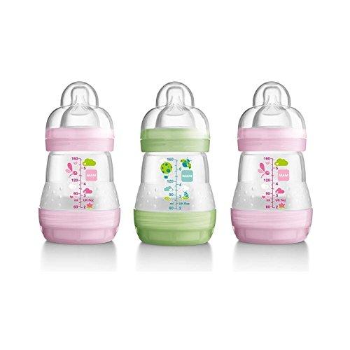 1パックMam抗疝痛ボトル、ピンクの3 (MAM UK LTD) (x 6) - MAM Anti Colic Bottle, Pink 3 per pack (Pack of 6) [並行輸入品]   B01M1JVSR3