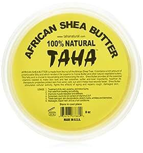 Taha African Shea Butter Cream (100% Pure & Raw, Gold) 8 oz