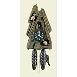 Original Eight Day Movement Cuckoo Clock in Special Design and Style 13.5 Inch
