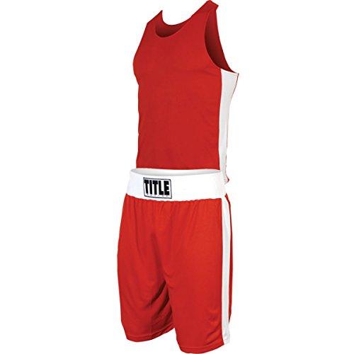 Title Boxing Aerovent Elite Amateur Boxing Set (Original), Red/White, Large