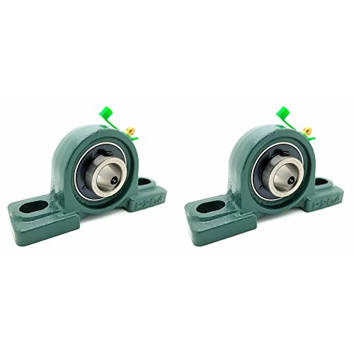 Bearing 3/4 Inch Blocks - Two (2) UCP204-12 Cast Iron Pillow Block Mounted Bearings - 3/4