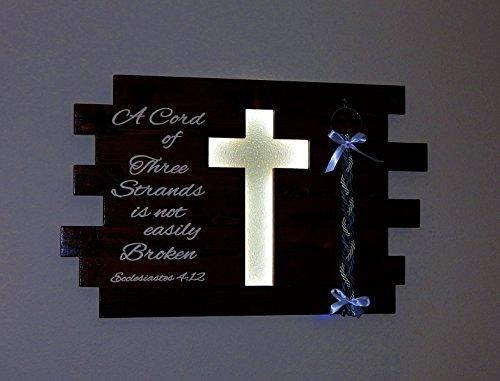 Illuminated Cross (A Cord Of Three Strands Illuminated Cross Wedding Sign Christmas Gift)