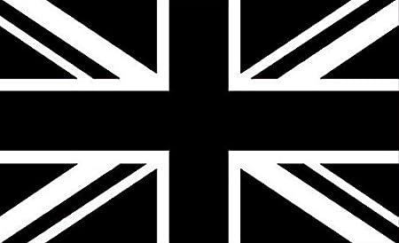 Union Jack-Nero//Bianco 3ft x 2ft con occhielli