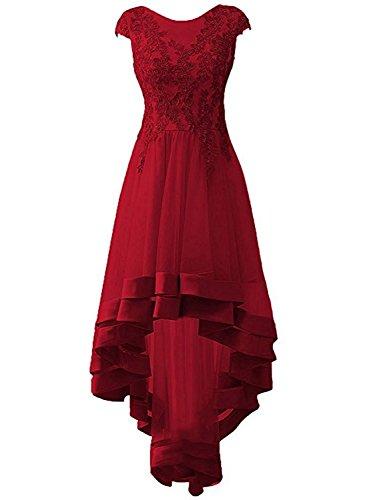 Ballkleider Applikationen Burgund Hochzeitskleider Festkleider Brautjungfernkleider Damen Lang Tüll Abendkleider 6nxqgwn0UE