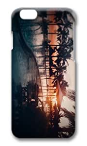 MOKSHOP Adorable beach resort sunset Hard Case Protective Shell Cell Phone Cover For Apple Iphone 6 (4.7 Inch) - PC 3D