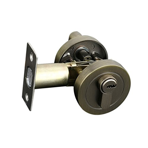 Nice Fityle Fashion Brass Cylinder Deadbolt Door Lock Security Dead Bolt Locks With 3 Keys - #2