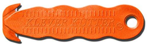 Klever Kutter Box Bulk Safety Cutter, Orange, 100 Piece - Safety Hook Knife