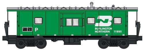 Northern Burlington Caboose - BN BW CABOOSE #11995