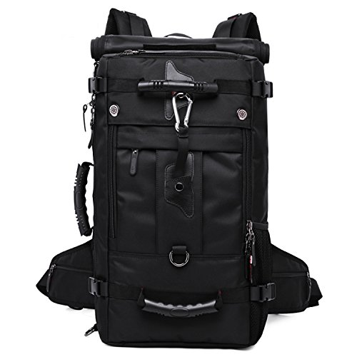 Outdoor Travel Backpack Travel Large Capacity Multifunctional Waterproof Mountaineering Laptop Bag Black