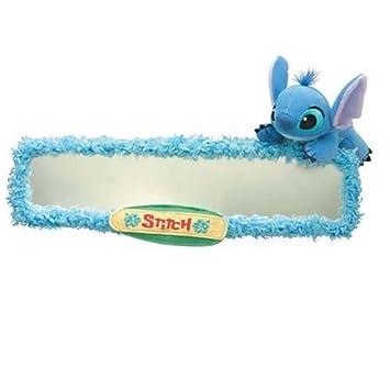Large Miroir Coque Stitch Lilo et Stitch Disney marchandises de voiture  Anime Mascot Bleu pour loisir