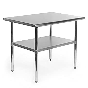 Gridmann Stainless Steel Commercial Kitchen Prep U0026 Work Table   36 In. X 24  In