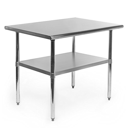 - GRIDMANN NSF Stainless Steel Commercial Kitchen Prep & Work Table - 36 in. x 24 in.