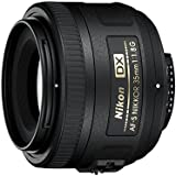 Nikon AF-S DX Nikkor 35 mm f/1.8G Prime Lens for Nikon Digital SLR Camera (Black)