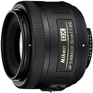 Nikon AF-S DX NIKKOR 35mm f/1.8G Lens with Auto Focus for Nikon DSLR Cameras,2183,Black