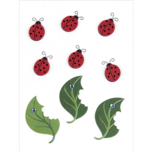 Jolee's Boutique Scrapbooking Embellishment, Lady Bugs and Leaves (Lady Bug Scrapbook Paper)