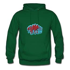 Tacos X-large Elegent Women 100% Cotton Green Sweatshirts