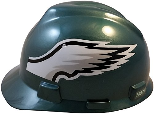 MSA NFL Ratchet Suspension Hardhats - Philadelphia Eagles Hard Hats by MSA (Image #2)