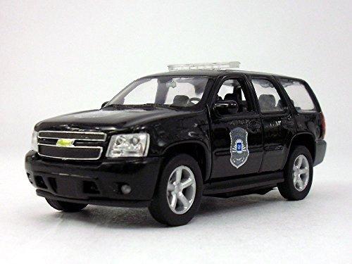 Welly 4.5 Inch Chevy Tahoe Police Patrol Scale Diecast Metal Model - Black (Best Chevy Tahoe Model)