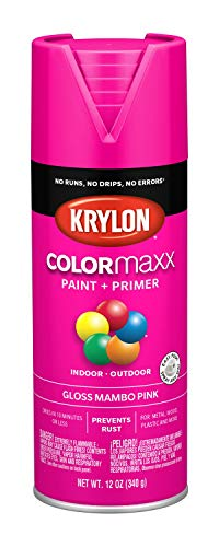- Krylon K05528007 COLORmaxx Spray Paint, Aerosol, Mambo Pink