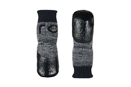 RC Pet Products Sport Pawks Dog Socks, Medium, Charcoal Heather