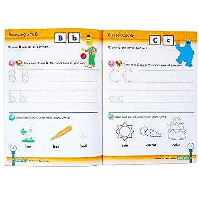 Set of 4 Sesame Street Workbooks (Alphabet, Letter Sounds, Colors, & Numbers): Toys & Games