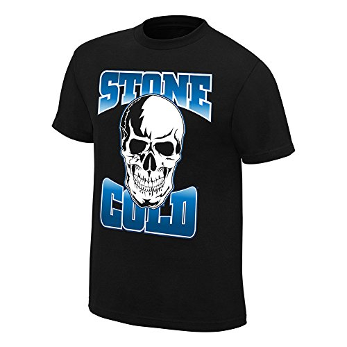 WWE Stone Cold Steve Austin Stomping Mudholes Youth T-Shirt Black Medium