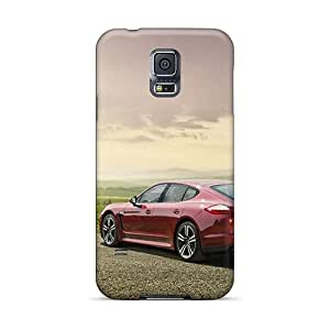 New Style Cases Covers XTu2504TXxh Red Porsche Panamera Compatible With Galaxy S5 Protection Cases