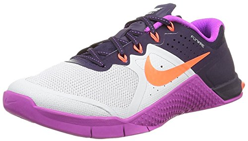 NIKE Women's Metcon 2 Ankle-High Fashion Sneaker (7 B(M) US, Pure Platinum/Hyper Purple)