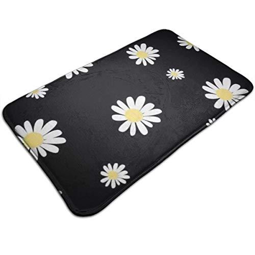 - HUOPR5Q White Daisy 20''x 32'' Bath Mat Doormat Non Slip Absorbent Bath Rug Carpet for Indoor/Outdoor/Kitchen/Entry/Bathroom