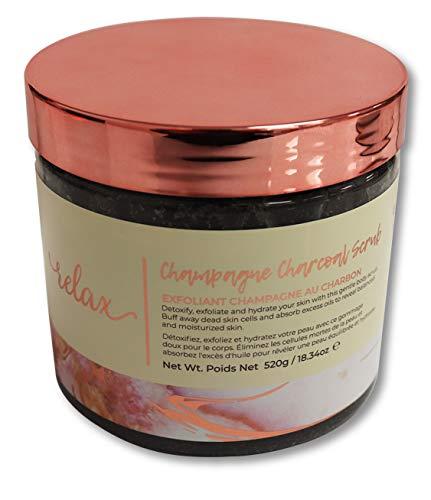 Manna Kadar Champagne Charcoal Body Scrub, 18.34 oz