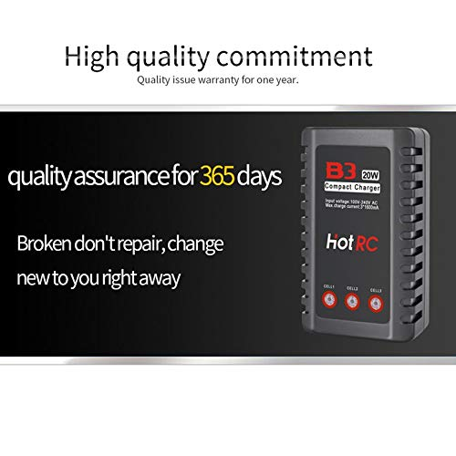 Wikiwand HOTRC B3 20W 1.6A AC Battery Balance Charger for 2S-3S RC LiPo Battery by Wikiwand (Image #6)