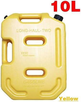 10Lリットルジェリカン実用的な長距離ガソリンディーゼル燃料タンク缶パックのためにオフロードSUV ATVオートバイ三輪車燃料コンテナ (Color : Yellow)