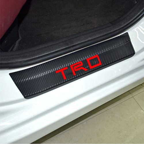 - SENYAZON Door Stickers Carbon Fiber Car Scuff Plate Sticker TRD Vinyl Decal Sticker for Toyota Camry Corolla RAV4 Highlander CR-V C-HR Fortuner 4Runner Reiz (red)