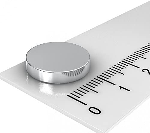 POWERMAGNET 10x NEODYM SCHEIBEN 13 x 5 mm AXIAL MAGNETISIERT Grade N45
