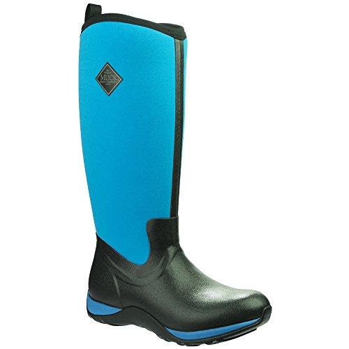 Stivali Di Stivale Unisex Avventura Artica Pull Su Stivali Wellington Nero / Blu Porto