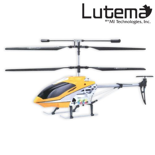 Lutema 17″ Helicopter with Fully functional LED light (Mid-Sized) – Yellow (Certified Refurbished)