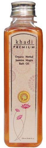 Khadi Premium - 250ml bio à base de plantes Jasmine Mogra Huile de Bain